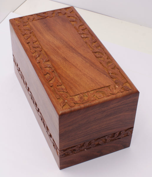 solid wood adult creamtion urn , container for human ashes, pet , funeral memorial remembrance