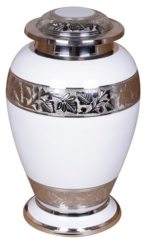 white double cremation urn, white ashes urn for 2 people , extra large urn, white companion urn, dual capacity urn, double capacity urn, urn for 2 adults, horse urn, urn for very large pet animal, free delivery urn, quick delivery urn, best quality urn, affordable price urn, cheap price urn