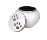 white pet ashes urn, dog cremation urn, cat cremation urn, pet cremation urn, dog ashes urn, cat ashes urn, pet ashes urn, dog memorial , cat memorial, pet memorial, pet funeral memorial remembrance urn, free delivery, quick delivery, best quality pet urn