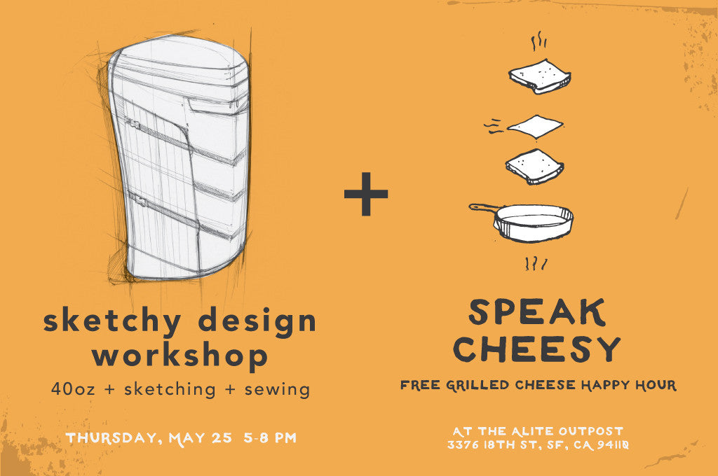 Sketchy Design Workshop X Speak Cheesy Happy Hour