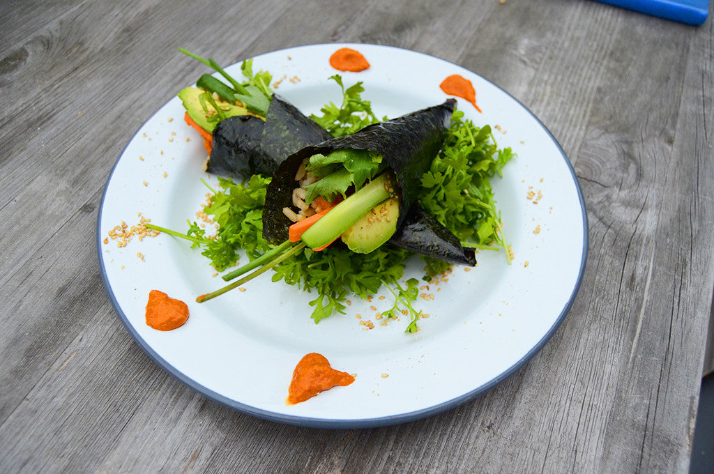 Camp Snack: Fresh Nori Hand Rolls