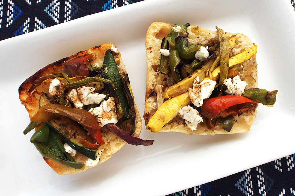 Camp Lunch: Open-Faced Grilled Veggie Sandwich