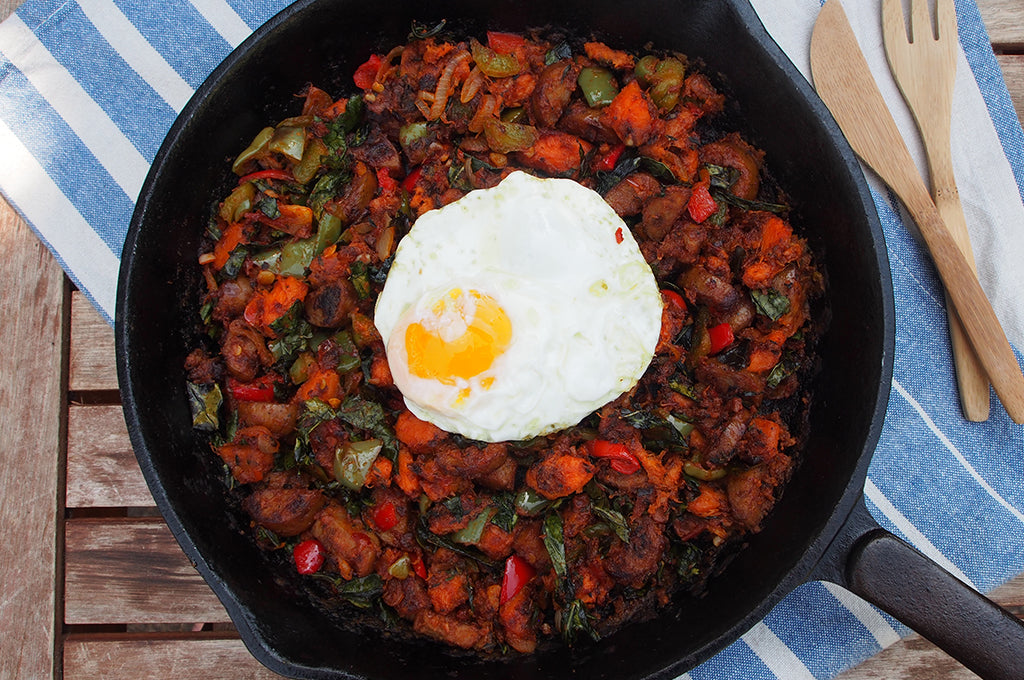 Camp Breakfast: Sweet Potato Hash