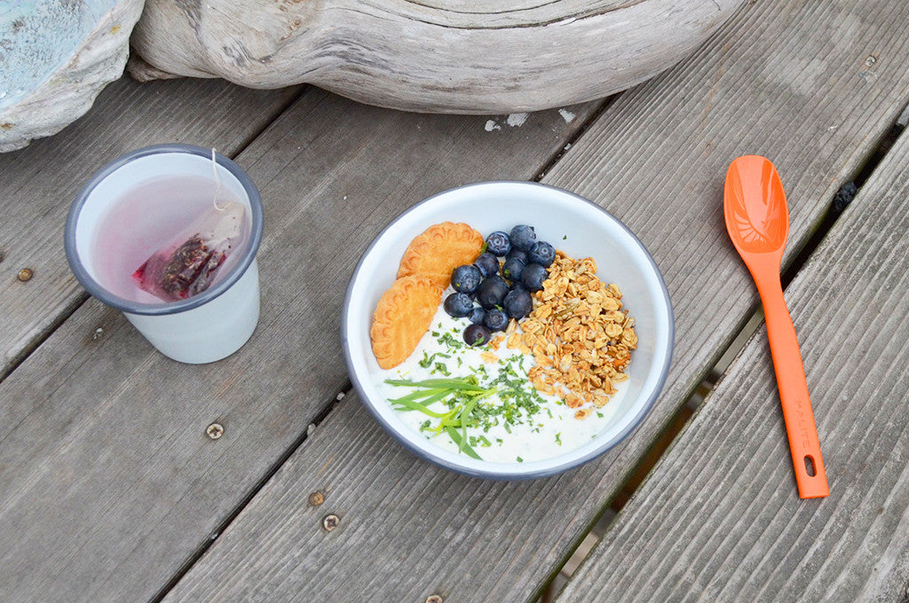 Camp Breakfast: Tarragon Yogurt with Shortbread