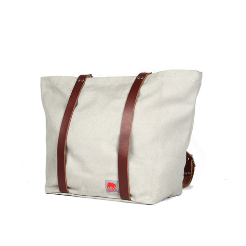 Canvas Bike to the Beach Bag (Tomales Gray)
