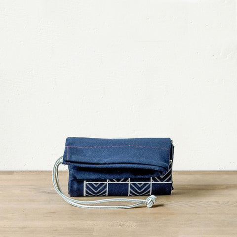 Portable Canvas Roll-Up Game (Navy Blue)