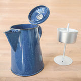 Enamelware Coffee Percolator (Blue)