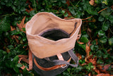 Forage to the Farm Bag (Waxed Canvas/ Tan Green)