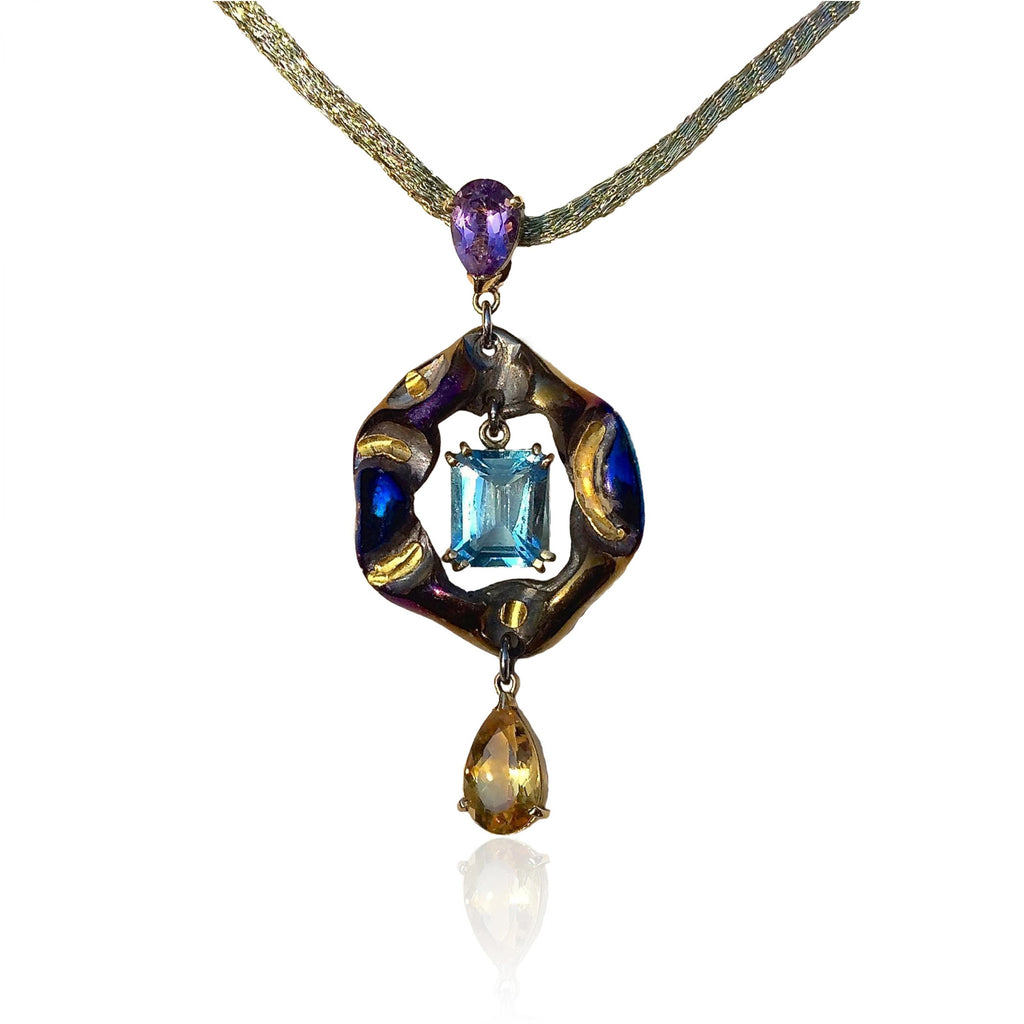 """ The Blue Heart Pendant"" from the""Contemporary Rena"
