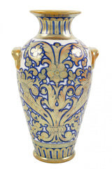LUSTRE VASE with floral design in a