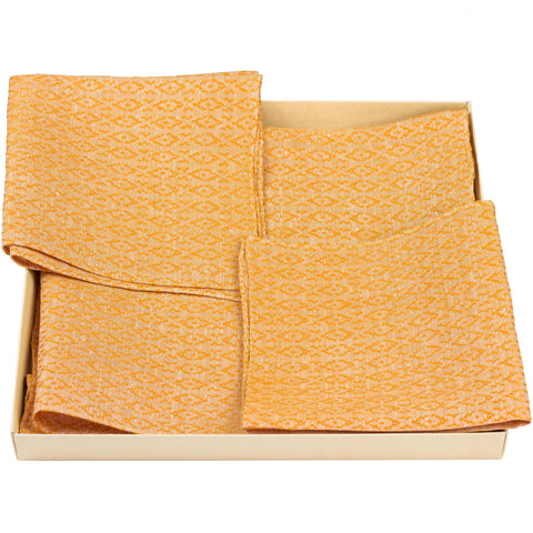 Set Americana type 11A Classic Orange 2 underplates and 2 napkins