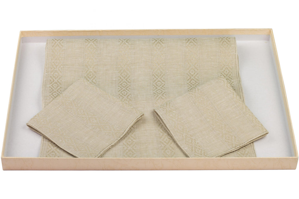 Sabble cloth type 11A FN with 2 napkins in pure linen