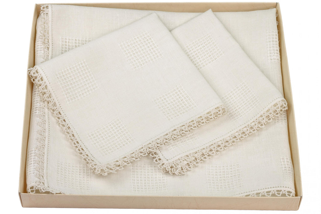 Set Americana type 300 Classic ecru 2 underplates and 2 napkins