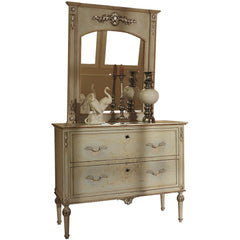 Art. 841/842 -Opale chest of drawers decorated with mirror