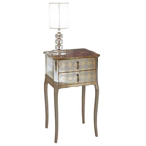 Art.102 – Mirto bedside table with diamond pattern: