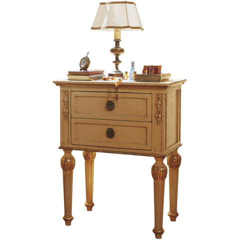Art.850 Opale bedside table with wooden decorations