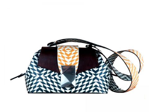 Medium Shoulder Bag in Mosaic Print - Medium Cheek Sailor