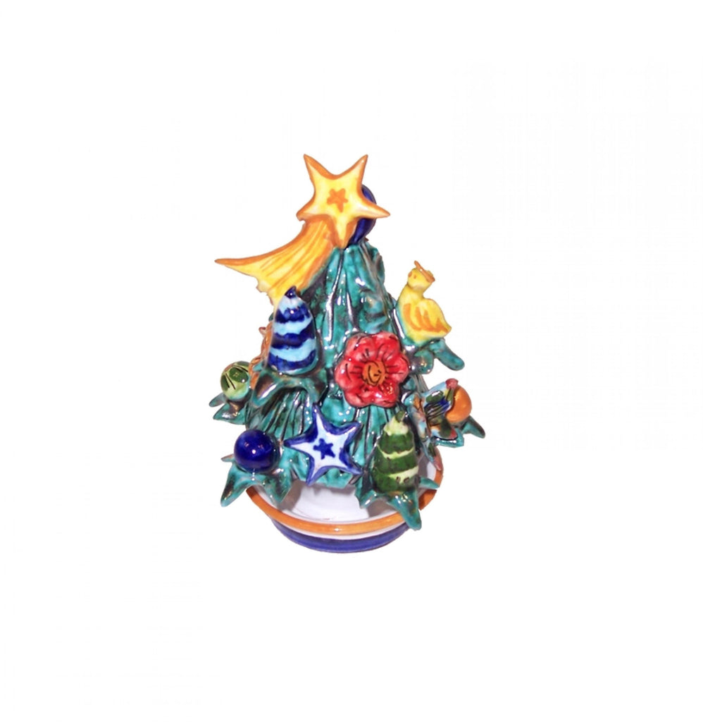 Ceramic Christmas tree h 12 cm