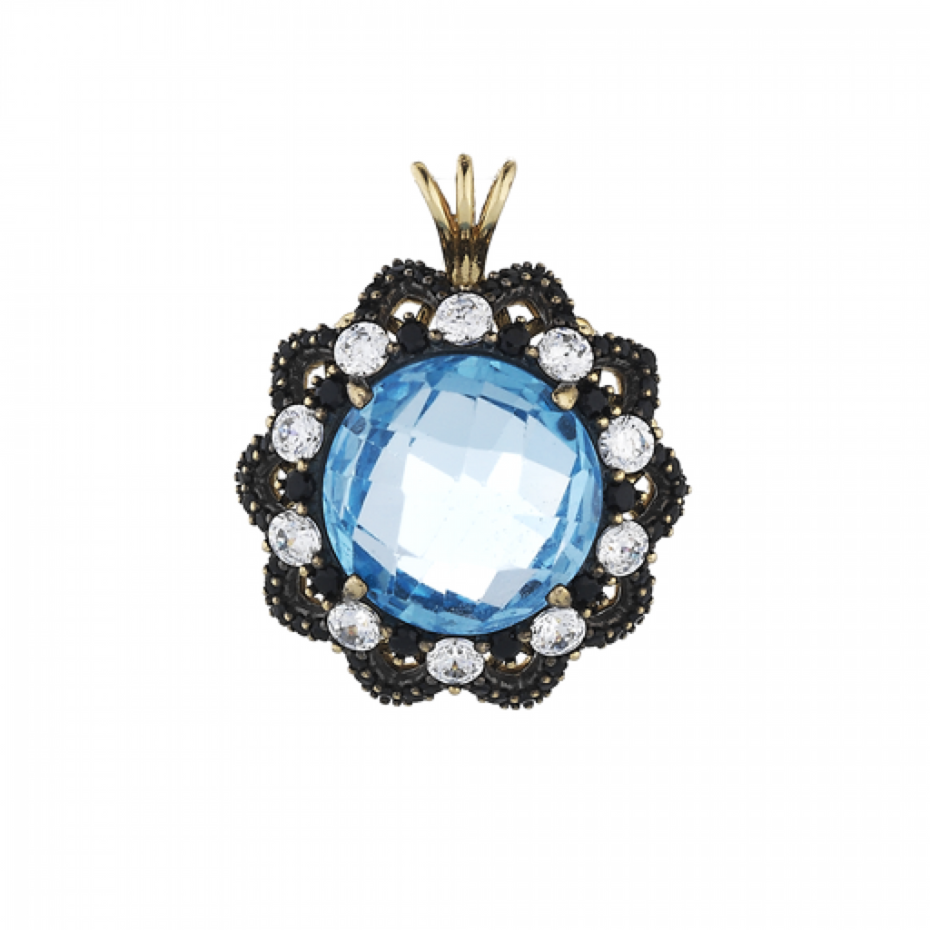 PENDANT WITH BLUE TOPAZ
