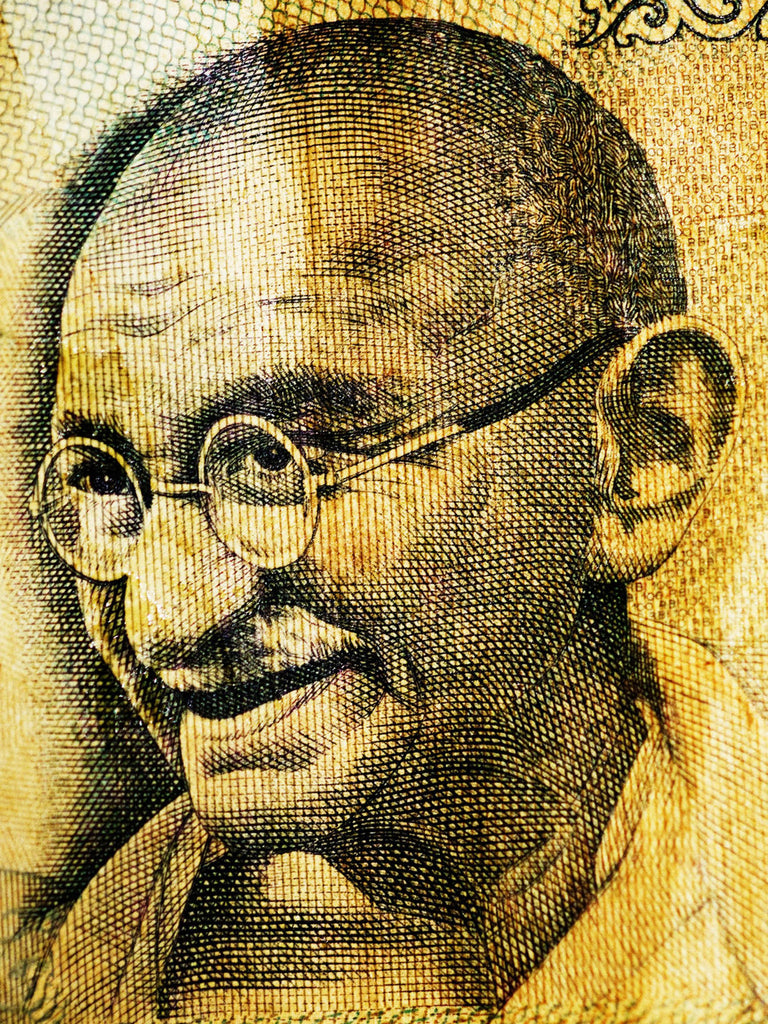 Mohandas Karamchand Gandhi, India | Faces of Money | 19,7 x 27,5&rdquo