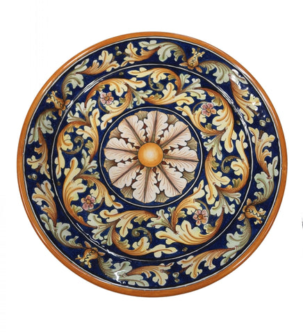 Dishes ornate blu diameter 36 cm