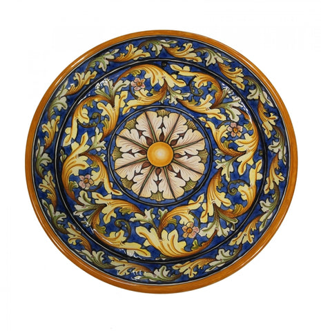 Dishes ornate blu diameter 45 cm