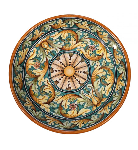 Dishes ornate green diameter 45 cm