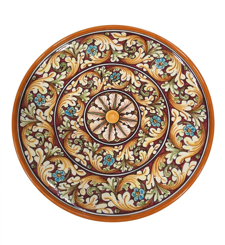 Dishes double ornate red diameter 45 cm