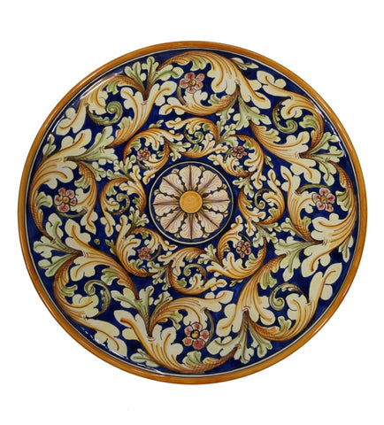 Dishes double ornate blue diameter 45 cm