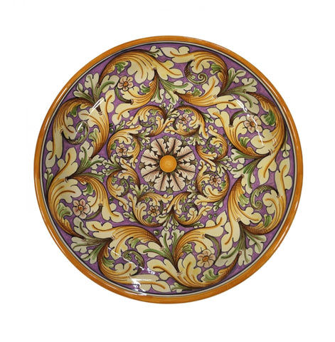 Dishes double lilac ornate diameter 45 cm