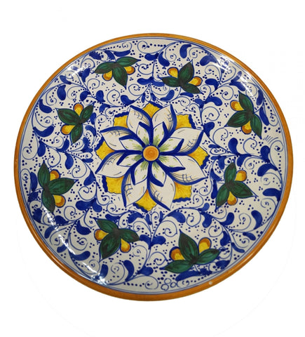 Dishes cobalt blue and big rosette of 600' diameter 36 cm