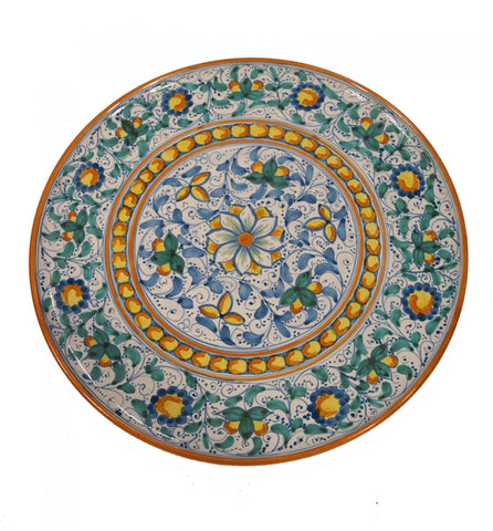 Dishes green and antique blue of 600' diameter 45 cm