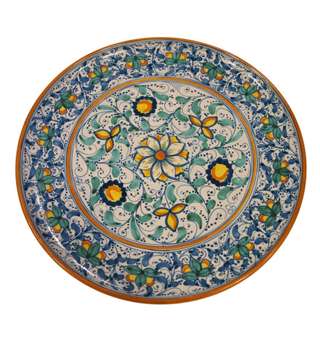 Dishes antique blue and green of 600' (second version) diameter 45 cm