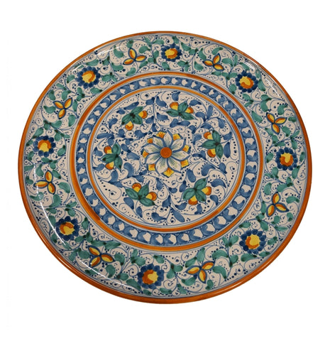 Dishes green and antique blue of 600' (second version) diameter 45 cm