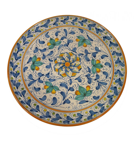 Dishes antique blue of 600' diameter 45 cm