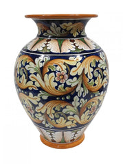 Vase with ornate decor height cm 45