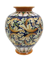 Vase with ornate blue decor height cm 35