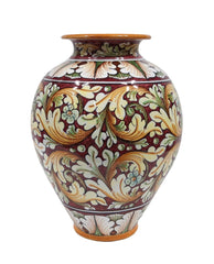 Vase with ornate red decor height cm 35