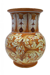 Vase with ornate orange decor height cm 30