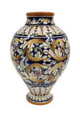 Vase with ornate red decor height cm 32