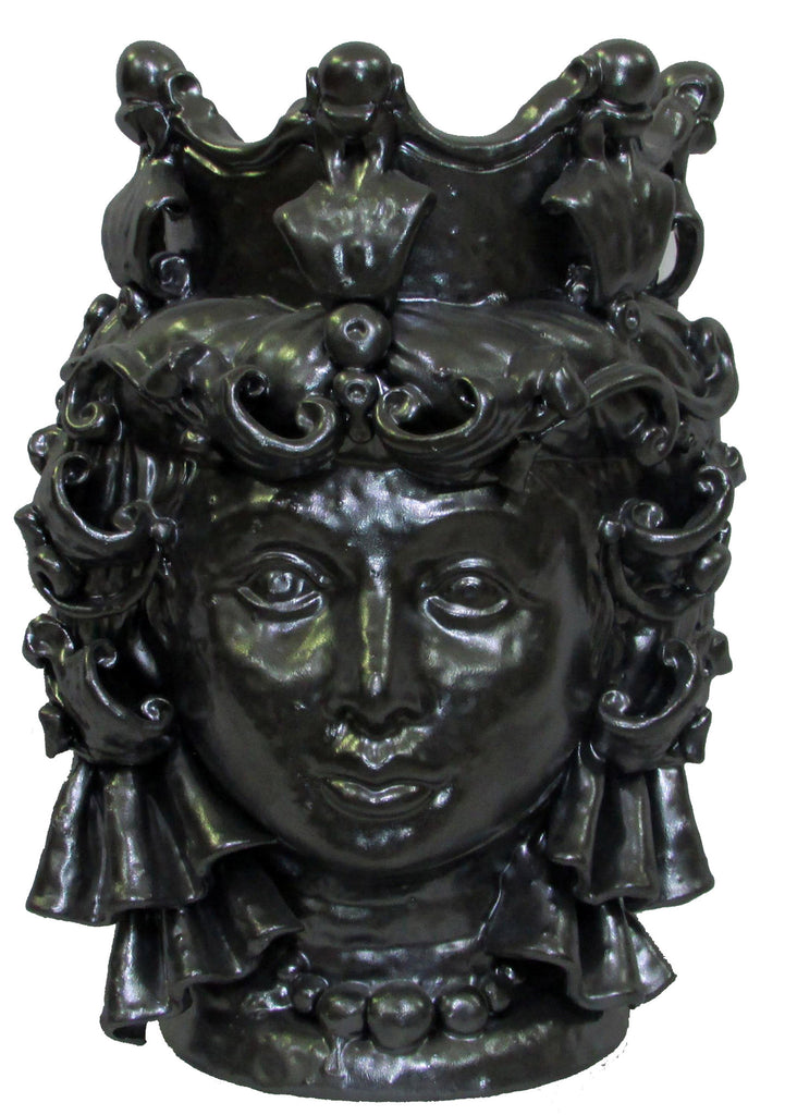 Head of browen (metal effect) woman