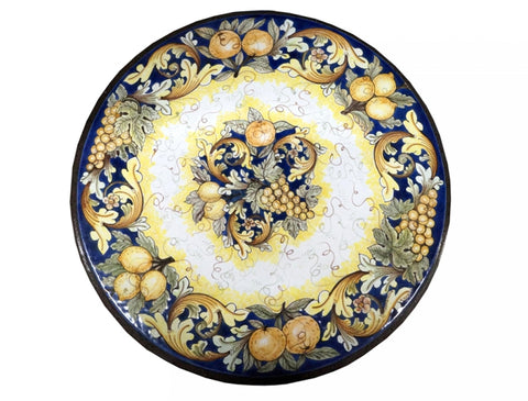 lava-stone-table-fruit-painting-and-ornate-blue-decoration-diameter-100-cm