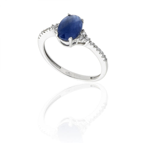 RING WITH ROOT OF NATURAL SAPPHIRE