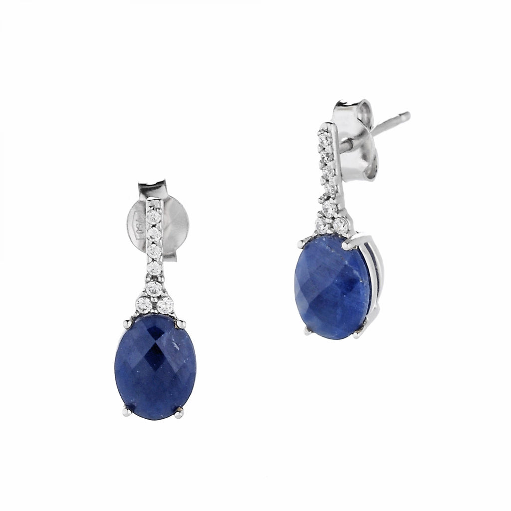 EARRING WITH ROOT OF SAPPHIRE