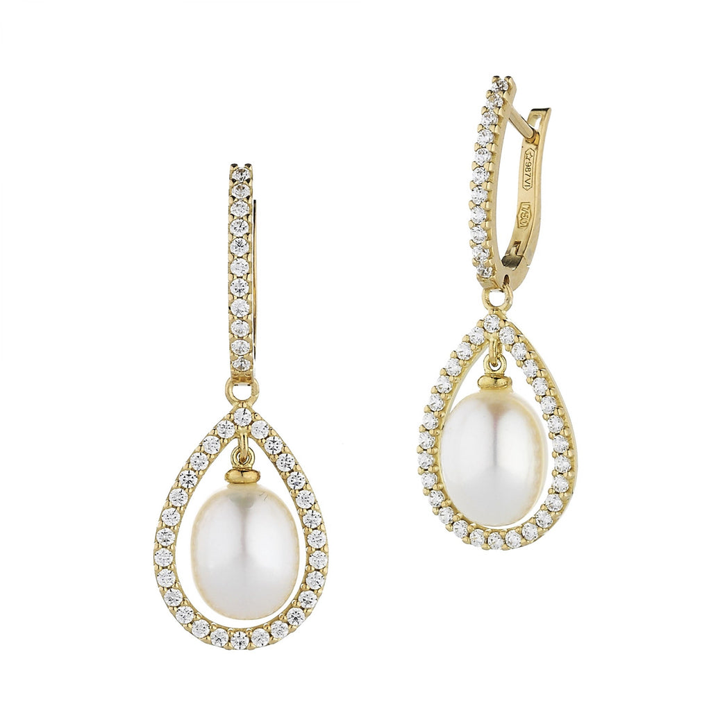 EARRING WITH NATURAL PEARL
