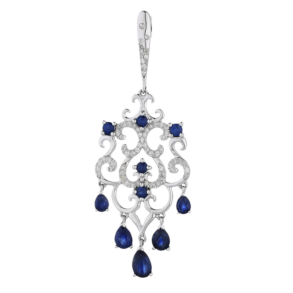 PENDANT WITH DIAMOND AND SAPPHIRE