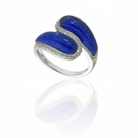 RING WITH DIAMOND AND SAPPHIRE