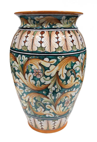 Umbrella stand ornate green decor