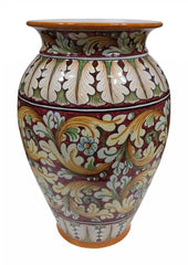 Umbrella stand ornate red decor oval