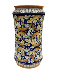 Umbrella stand ornate blue decor